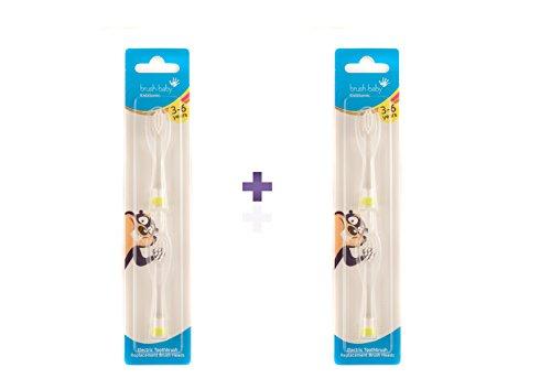 Brush-Baby KidzSonic Toothbrush 3-6 Years Replacement Brush Heads - Pack of 4