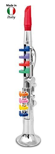 Click N' Play Clarinet with 8 Colored Keys, Metallic Silver