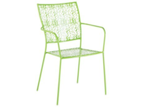 Alfresco Home Martini Stackable Bistro Chair, Key Lime, Set of 2 -