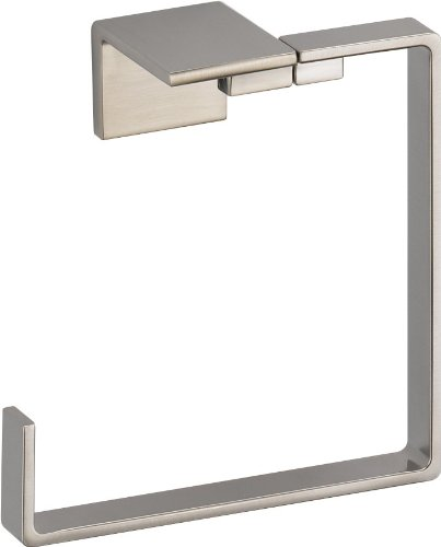 Toilet Stainless Sink Steel (Delta Faucet 77746-SS Vero Towel Ring, Brilliance Stainless Steel)