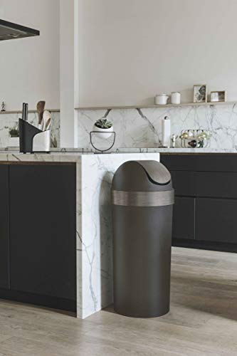 Umbra Venti 16-Gallon Swing Top Kitchen Trash Large, 35-inch Tall Garbage Can for Indoor, Outdoor or Commercial Use, Pewter by Umbra (Image #2)