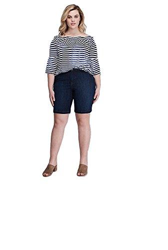Lane Bryant Denim Bermuda Shorts (Dark Wash) (24) from Lane Bryant