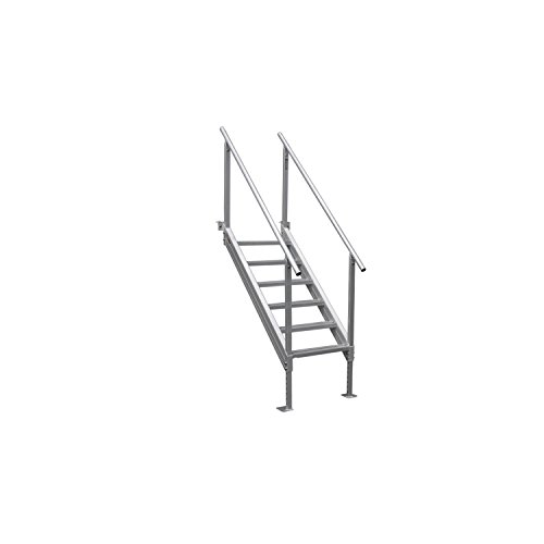 Photo Extreme Max 3005.3846 Universal Mount Aluminum Dock Stair-6-Step