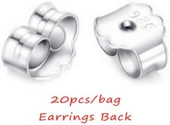 10pcs 925 Sterling Silver Ear Pin Earrings Posts Flat Pad Jewelry 6mm