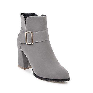 Chaussures au Hiver Mode Bottines pointu Fermées Bottes nubuck à US8 CN39 Simili UK6 femme cuir RTRY Chunky bout bottines EU39 Bottes talon Bottines Cuir Automne FHq0r8F7w
