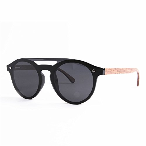 Protección Men's Frame Ligero Ultra para One Personalidad Gimitunus Leg Negro TAC Sunglasses Driving de Outdoor Gafas UV Polarized PC Style Beach Bamboo Sol Hombre Piece Fishing Lens T8xnpqq