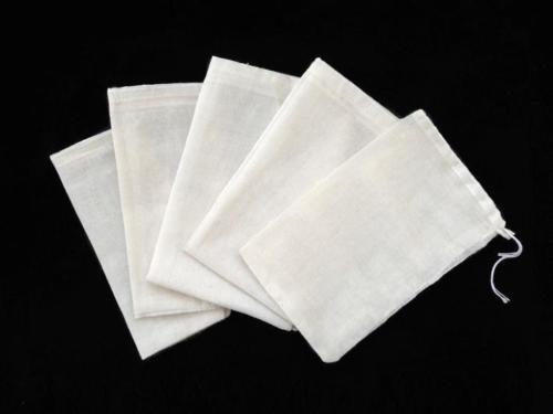 Price comparison product image 100 PCS 4x6 Cotton Muslin Drawstring Reusable Bags Packing Bath Soap Herbs Tea