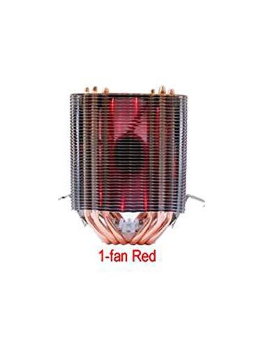 Dual-Cooling Tower 9Cm Fan Support 3 Fans 4Pin CPU Cooler 775X115 1366 from 2011 Am3 Am4 Fm1 Fm2 Ryzen,Red Back-Light,3-Fan ()