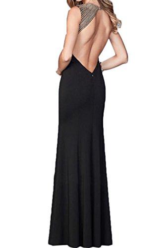 Festkleid Abendkleid Ivydressing Partykleid Linie Perlen Schwarz Rueckenfrei Promkleid Etui Damen Lang Elegant 4qw4axBU
