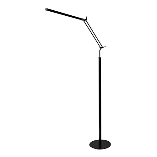 Satin Nickel Piano - Cocoweb High Powered, dimmable, LED Floor Lamp - FLED-GPS (Satin Nickel)