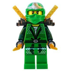 Lloyd ZX (Green Ninja) with Dual Gold Swords - LEGO Ninjago (Lego Ninjago Lloyd Zx)