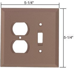 CRL Duplex and Toggle Combo Glass Mirror Plate - Bronze by C.R. Laurence