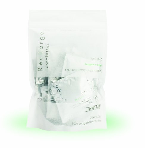 Giovanni Recharge Towelettes Peppermint Surge -- 20 Towelettes