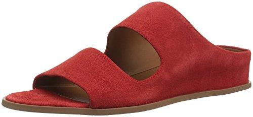 Aquatalia Women's Abbey Suede Sandal, red, 8 M US