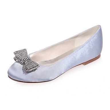 Las Mujeres'S Wedding Shoes Round Toe Flats / Fiesta Boda &Amp; Noche Zapatos De Boda Más Colores Disponibles Bajo 1En Champagne Silver