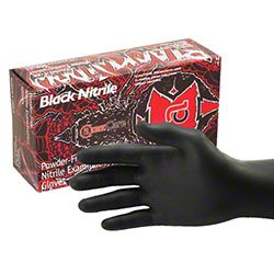 AmerCare[R] Black Widow Nitrile Examination Glove - XL