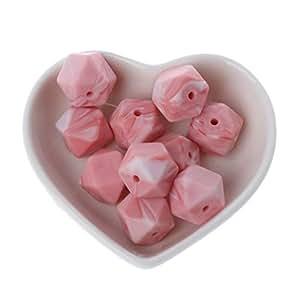 Amazon.com: Dabixx 10 piezas de perlas de silicona de 0.551 ...