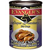 Evangers Hand Packed Roasted Whole Chicken Drumettes Dinner Meal for Dogs 13z Review