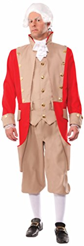 British Red Coat Costume (Peter Alan Men's British Coat Adult Costume Medium Red)