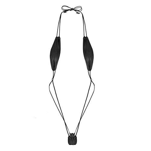 (Freebily One-Piece Women's Micro Thongs G-String Bikini Swimwear Slingshot Monokini Black One Size )