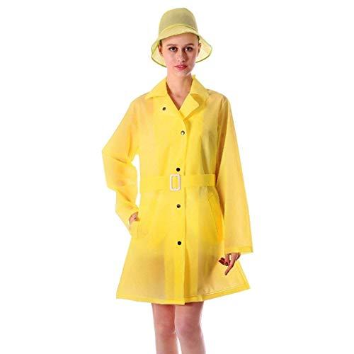 Del A Poncho Años Prueba Adultas De Agua Impermeable Señoras Amarillo Las 20 Moda Txfd0Uxw