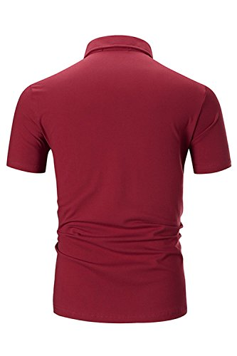 Polos Rojo De Premium Manga Ycueust Polo Camisetas Algodón Hombre Corta Para OSxvxYwFq