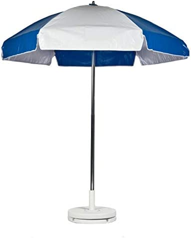 Frankford Umbrellas Heavy Duty Vinyl Umbrella-Royal/White