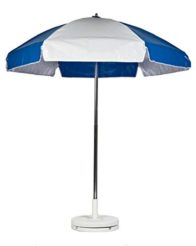 Frankford Umbrellas Heavy Duty Vinyl Umbrella-Royal/White