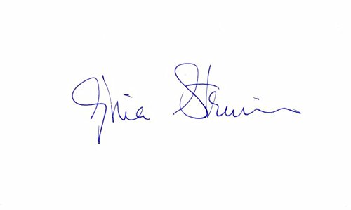 Gloria Steinem Signed - Autographed 3x5 inch Index Card - Feminist, journalist, author, and social political activist - Guaranteed to pass BAS - Beckett Authentication