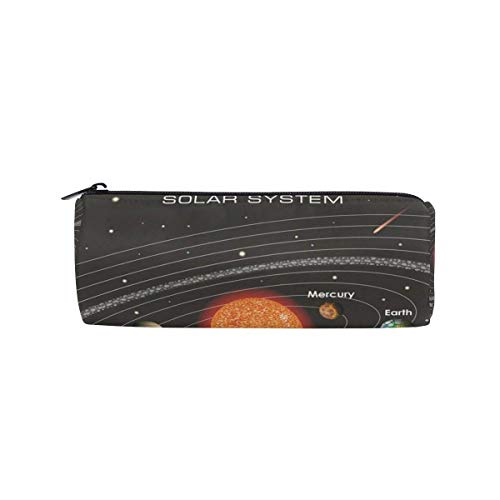 Students Pencil Case Space Solar System Pen Bag Zipper Pouch Purse for Boys Girls by DERTYV