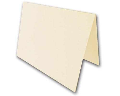 Blank Natural Folded 4 Bar Folded Note Cards - 250 - 4 Bar Invitation Card Folded