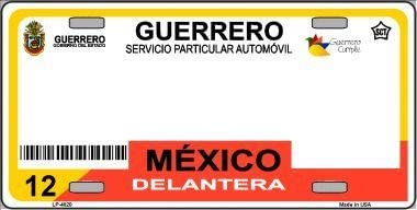 Jalisco Mexico Novelty Background Metal License Plate with Sticky Notes