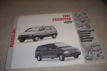 1987 Ford Aerostar Electrical Service Shop Manual Oem