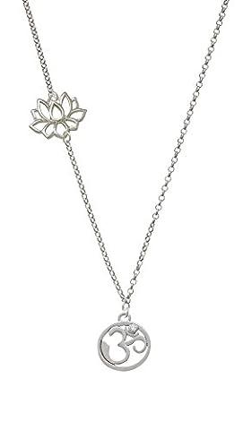 Delight Yoga Om Symbol Circle Delicate Lotus Necklace