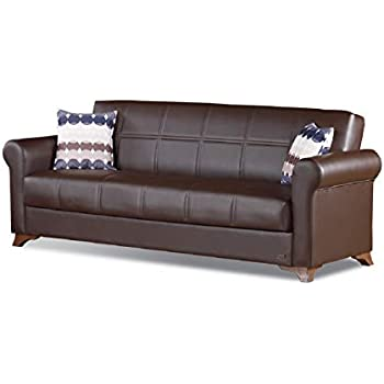 Amazon.com: Empire Muebles EE. UU. Harlem Convertible sofá ...
