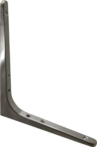 (62 Lb Capacity, Satin Stainless Steel Coated, Shelf Bracket pack of 2)