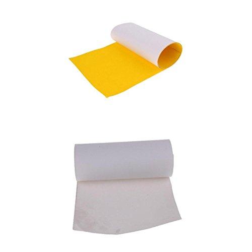 MagiDeal 2ピーススケートボードSandpaperノンスリップスケートボードグリップテープ研磨剤用紙イエロー、ホワイト