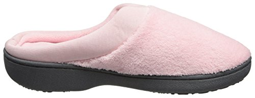 On Memory Comfort Satin Terry for with Pink Slipper Outdoor Petal Cushioned Women's Indoor Slip Foam and ISOTONER qgUAwXxXf