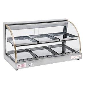 amazon com skyfod fwd2 33 33 food warmer display case double rh amazon com  food display shelves