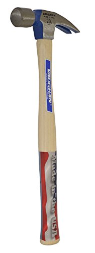 Vaughan 999L 20-Ounce Professional Framing Hammer, Smooth Face, Longer White Hickory Handle, 16-Inch Long.