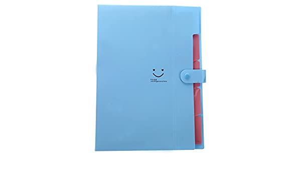 Amazon.com : TOOGOO(R) Kawaii FoldersStationery Carpeta File Folder 5layers Archivadores Rings A4 Document Bag Office Carpetas£¨Blue£ : Office Products