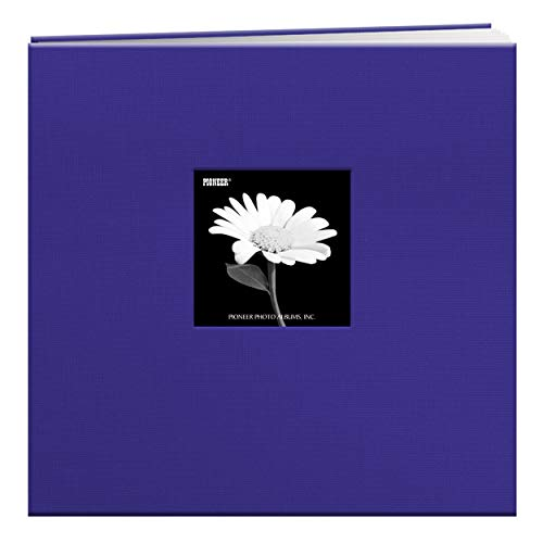 (Pioneer 12-Inch by 12-Inch Book Cloth Cover Postbound Album with Window, Cobalt Blue)