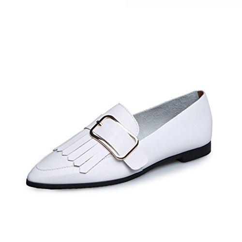 plana De zapatos señaló zapatos Nude Borlas B Señora 5ZqnAFxF