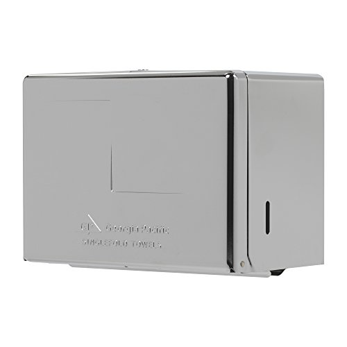 Dispenser Single Fold (Georgia-Pacific 56720 Chrome Singlefold Paper Towel Dispenser, 10.5