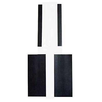 """Hinge-Mag Magnetic Door Hinge Masking Shields for Painting - 4.5"""" for Commercial and Office Doors - 50-Pack"""