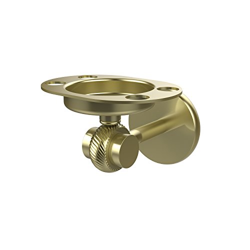 Allied Brass 7226T-SBR Satellite Orbit Two Collection Tumbler and Toothbrush Holder with Twisted Accents Satin Brass