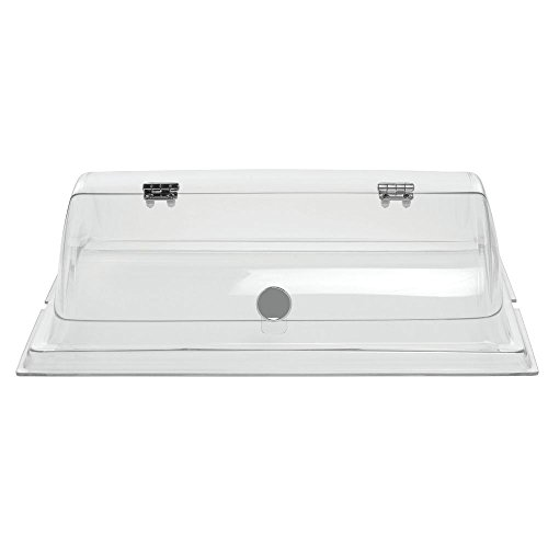 Dome Cover For Pastry Trays Rectangular Clear PETG - 20''L x 14''W x 6 1/2''H by Hubert