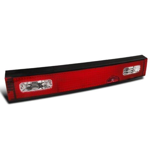 Spec-D Tuning LT-S1389RPW-TMX Nissan 240SX S13 Hatchback Red/Clear Tail Trunk Light Center Lamp (Nissan 240sx Hatch)