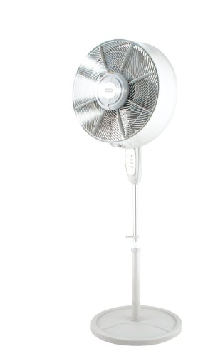 """KUL Oscillating Outdoor Misting Fan 3-Speed Misting Fan 16"""" White"""