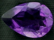 (10x7 Pear Brazilian Amethyst Gem Stone Gemstone Faceted )